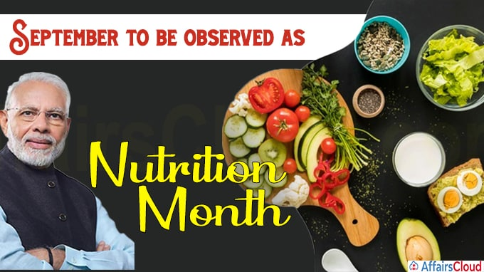 September to be observed as Nutrition Month PM Modi