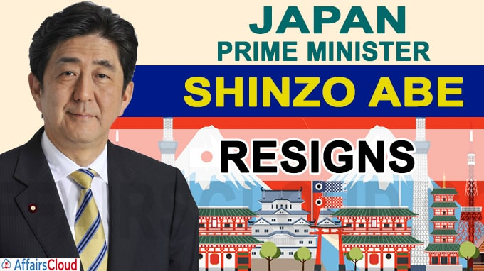 Shinzo Abe Japan Prime Minister resigns