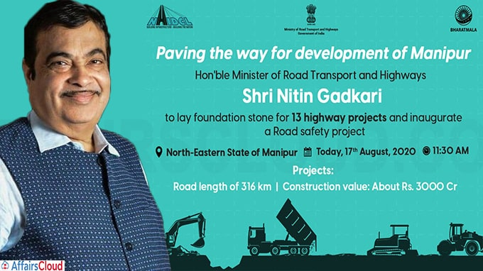 Shri Gadkari Lays Foundation Stone for 13 Highway Projects and Inaugurates a Road Safety Project