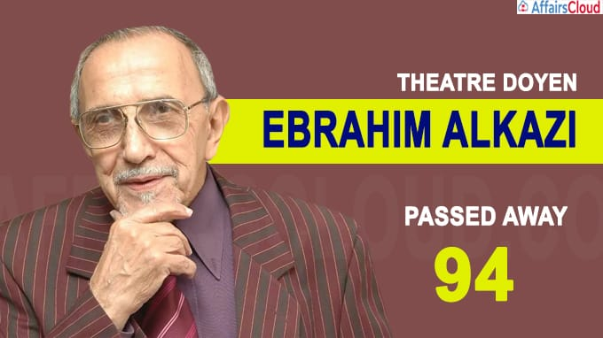 Theatre doyen Ebrahim Alkazi passes away at 94