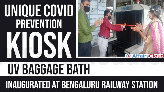 "Unique-COVID-prevention-kiosk-named-""UV-Baggage-Bath""-inaugurated-at-Bengaluru-railway-station"