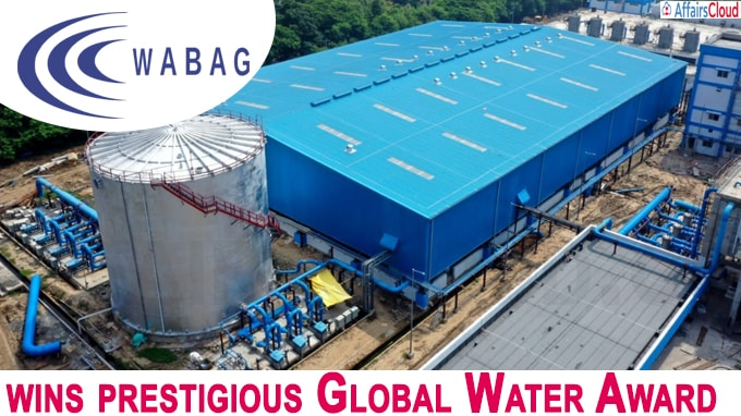 Wabag wins prestigious Global Water Award for project in Chennai