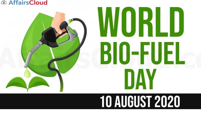 World-Bio-Fuel-Day-2020-August-10