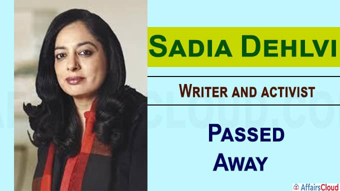 Writer and activist Sadia Dehlvi dies