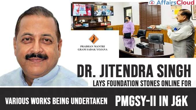 itendra-Singh-lays-foundation-stones-online-for-various-works-being-undertaken-under-PMGSY-II-in-J&K