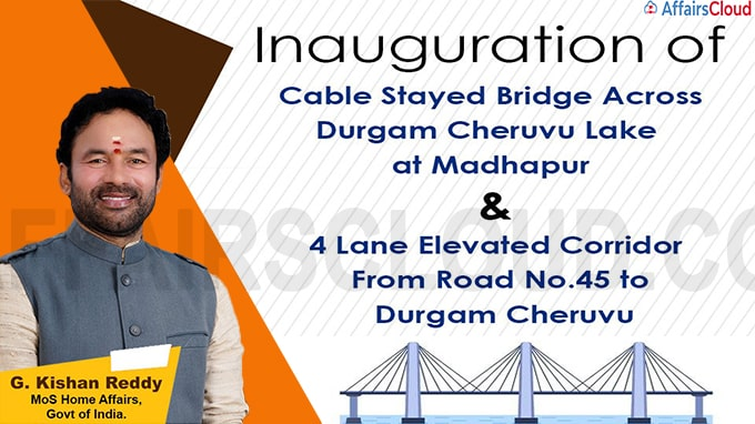 'Cable Stayed Bridge' constructed across Durgam Cheruvu Lake inaugurated