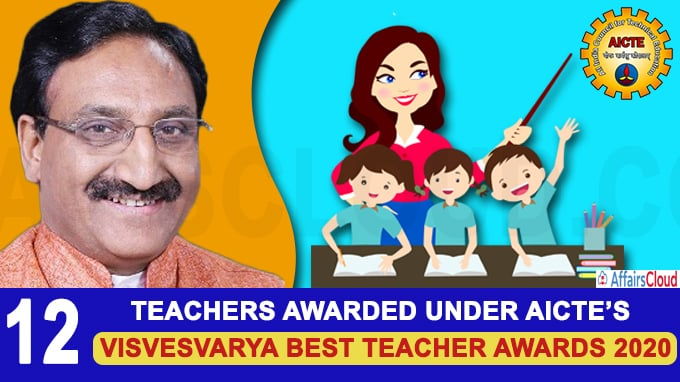12 teachers awarded under AICTE's first-ever Visvesvarya Best Teacher Awards 2020