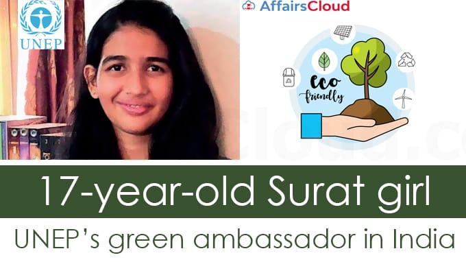17-year-old-Surat-girl-UNEP's-green-ambassador-in-India