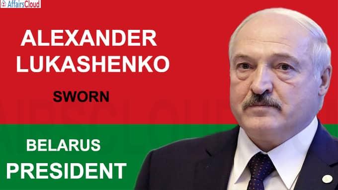 Alexander Lukashenko of Belarus was sworn in for a new term as President