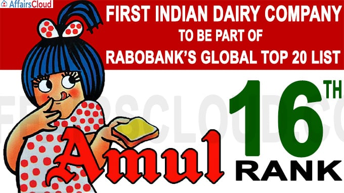 Amul becomes first Indian dairy company