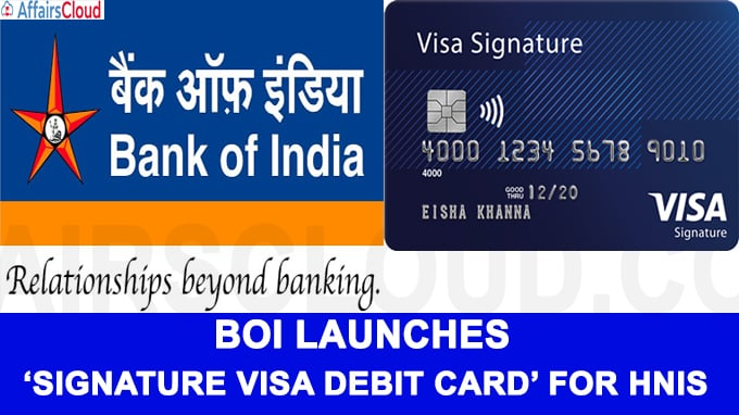 BoI launches 'Signature Visa Debit Card' for HNIs on its 115th Foundation Day