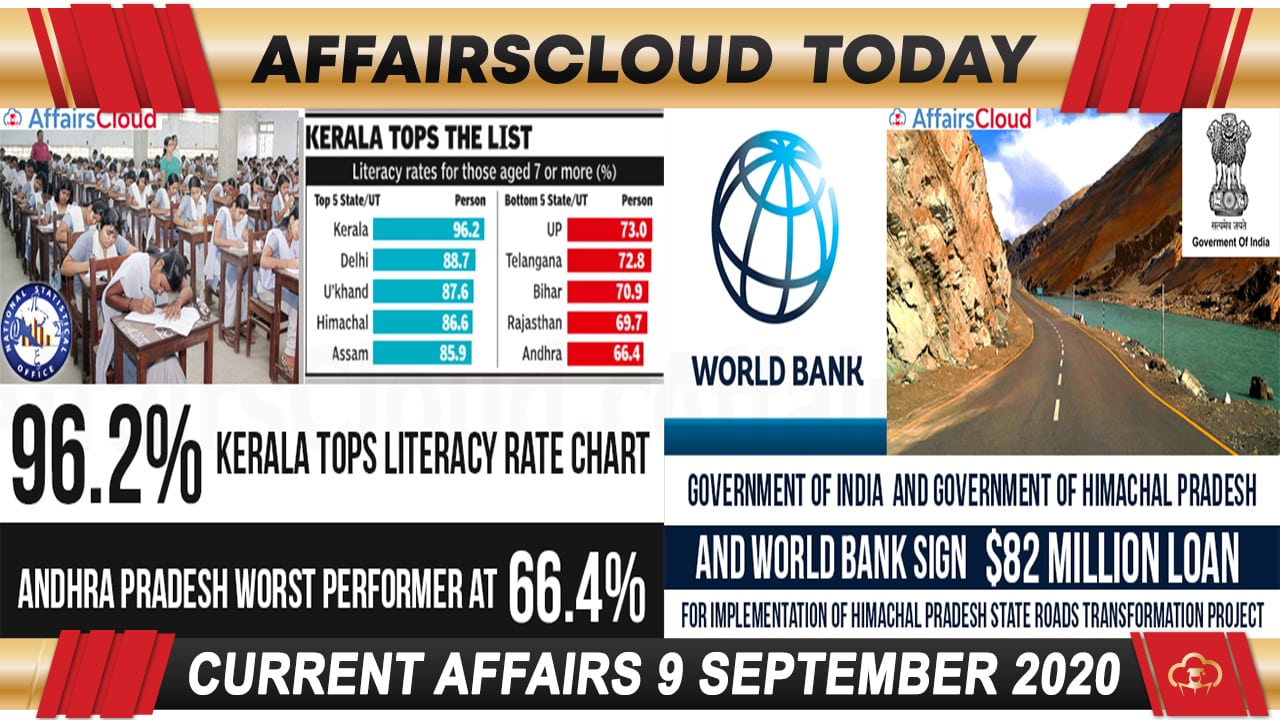 Current Affairs September 9 2020 new