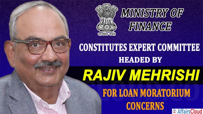 Finance Ministry constitutes expert committee headed by Rajiv Mehrishi