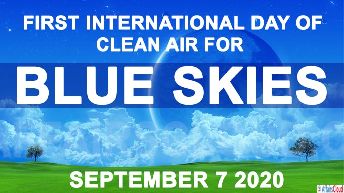 First International Day of Clean Air for blue skies