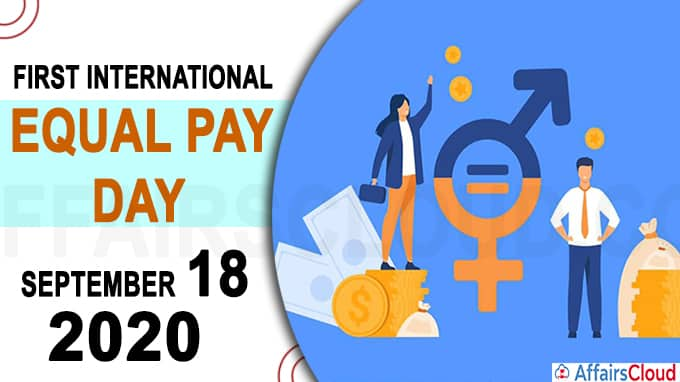First International Equal Pay Day 2020
