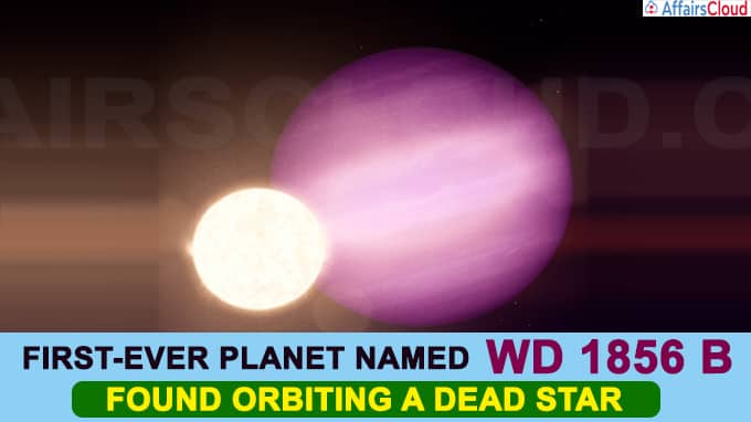First-ever planet named WD 1856 b found orbiting a dead star