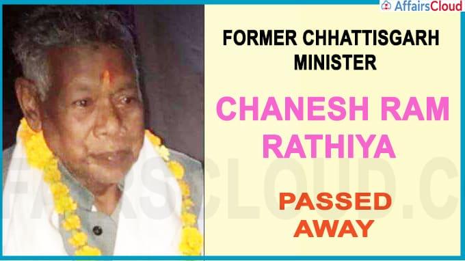 Former Chhattisgarh Minister Chanesh Ram Rathiya Dies Of COVID-19