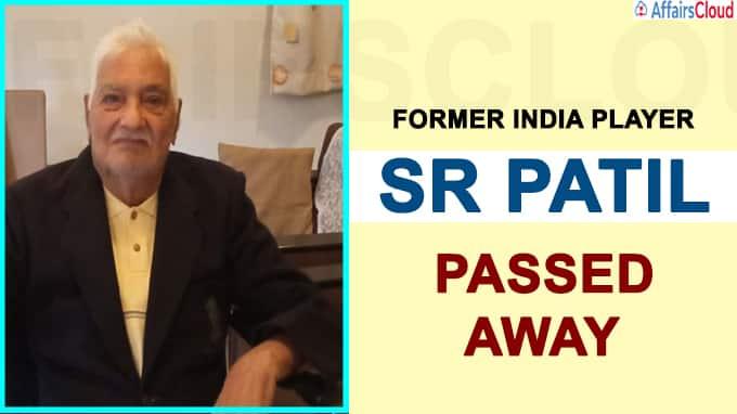 Former India player SR Patil dead
