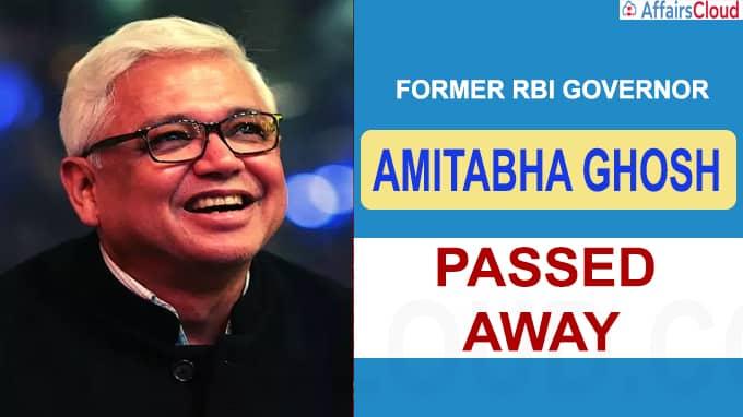 Former RBI governor Amitabha Ghosh passes away at 90