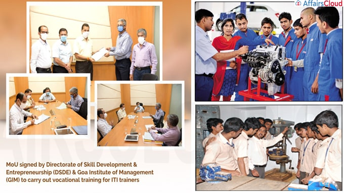 Goa govt signs MOU with GIM to carry out vocational trainin
