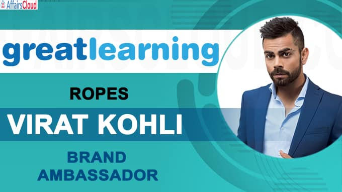 Great Learning ropes in Virat Kohli as brand ambassador