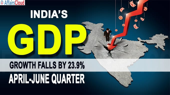 India's GDP growth falls by 23-9%