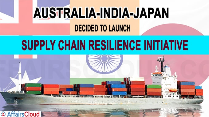 India-Japan-Australia decided to launchSupply Chain Resilience Initiative