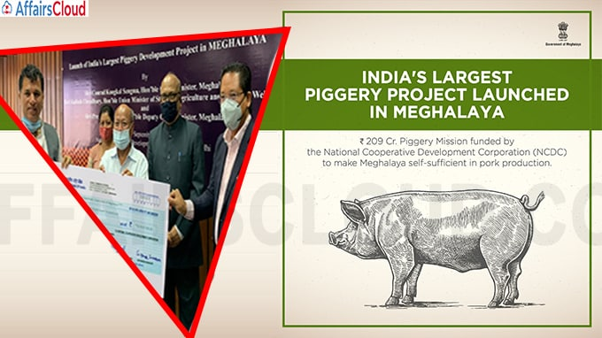 India's largest Piggery Mission launched in Meghalaya