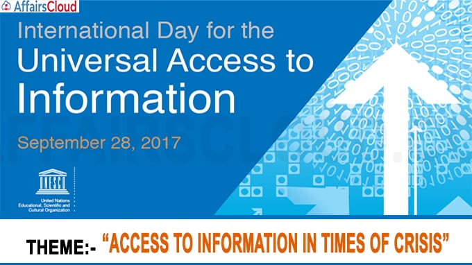 International Day for Universal Access to Information new