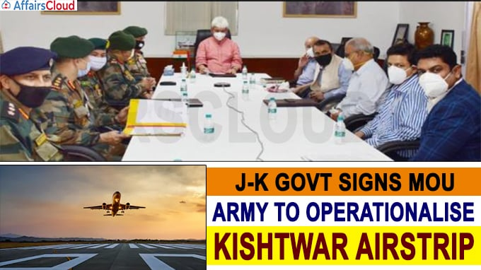 J-K govt signs MoU with Army to operationalise Kishtwar Airstrip