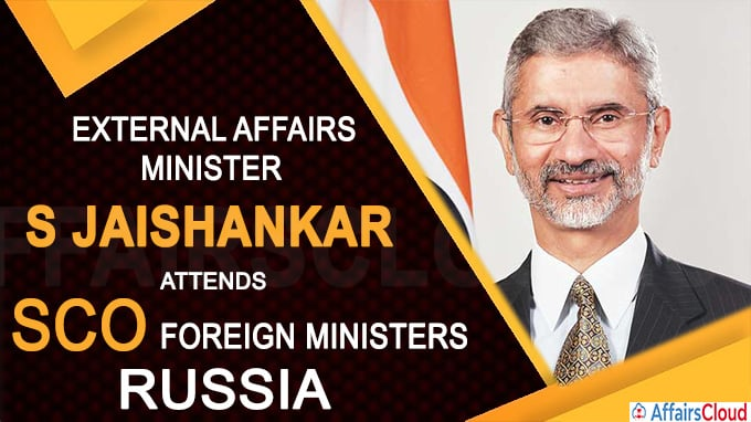 Jaishankar attends SCO foreign ministers in Russia