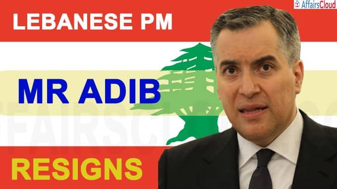 Lebanese prime minister Mr Adib resigns amid impass