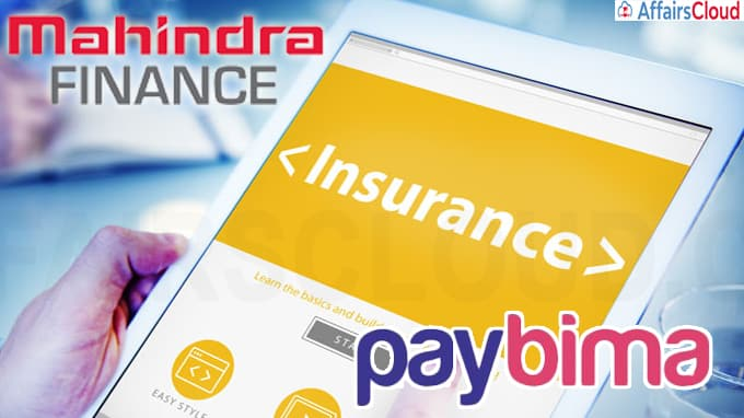 Mahindra Finance set to enter online insurance, will launch portal called PayBima(Write Static GK)