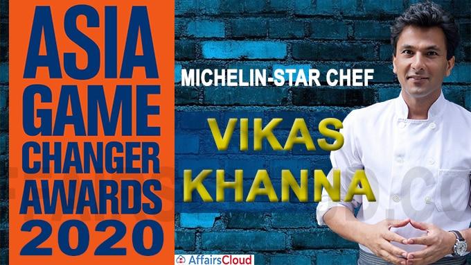 Michelin-star chef Vikas Khanna 2020 Asia Game Changer Award