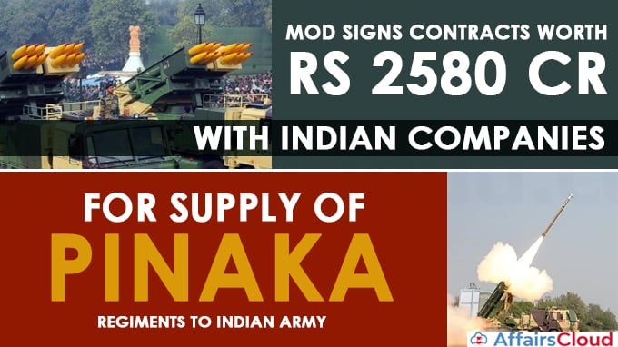 MoD-signs-contracts-worth-Rs-2580-Cr-with-Indian-Companies