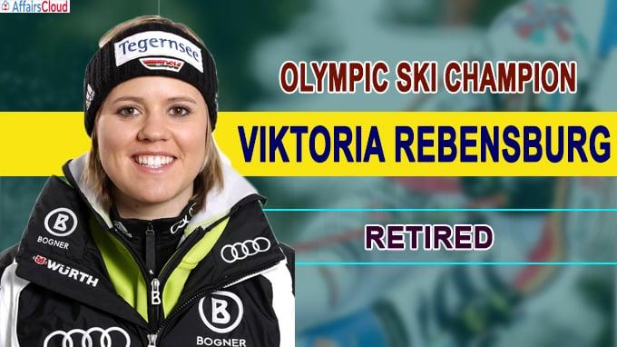 Olympic ski champion Viktoria Rebensburg retires new