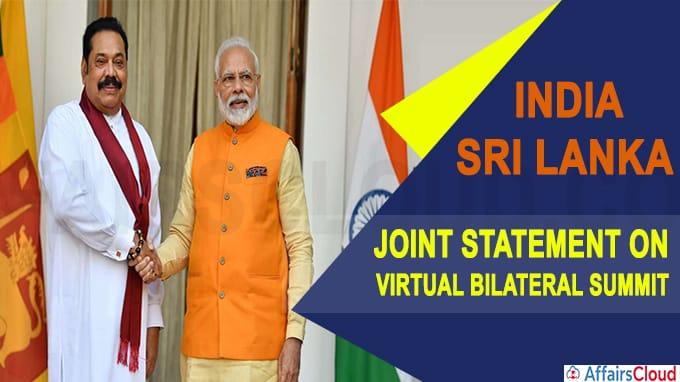 PM Modi hold Virtual Bilateral Summit with Sri Lanka's Prime Minister