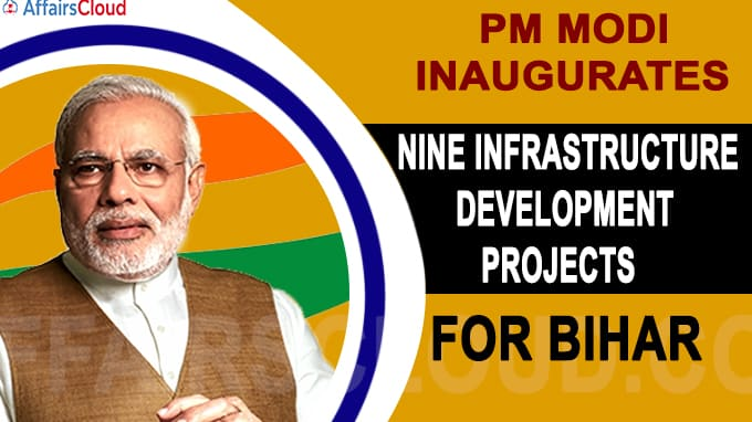 PM Modi inaugurates nine infrastructure development projects