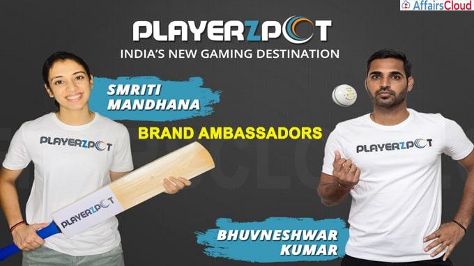 Playerzpot ropes in Bhuvneshwar Kumar, Smriti Mandhana as brand ambassadors