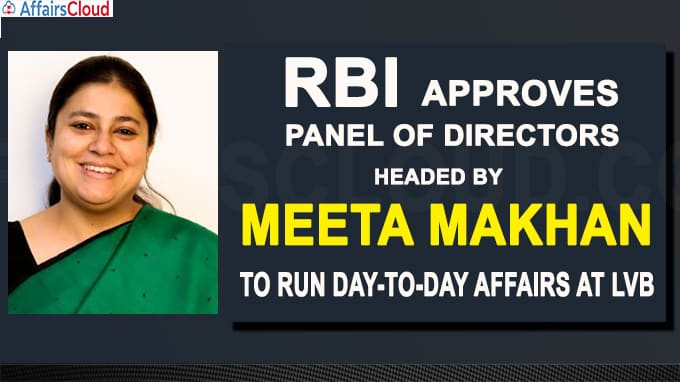 RBI approves panel of directors headed by Meeta Makhan