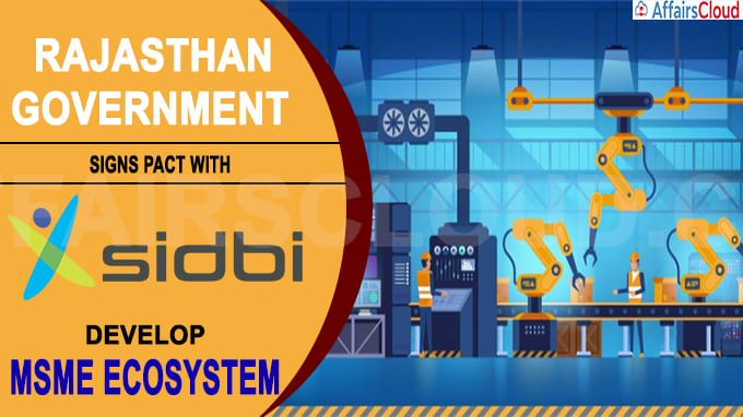 Rajasthan government signs pact with Sidbi