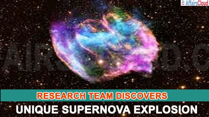 Research team discovers unique supernova explosion