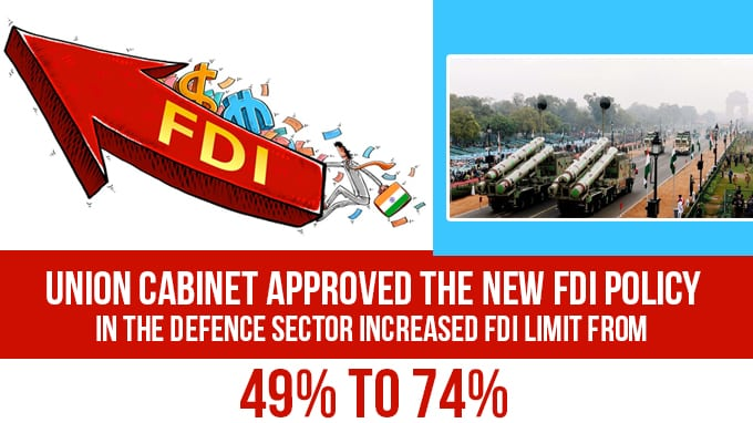 Union-Cabinet-approved-the-new-FDI-policy-in-the-Defence-sector