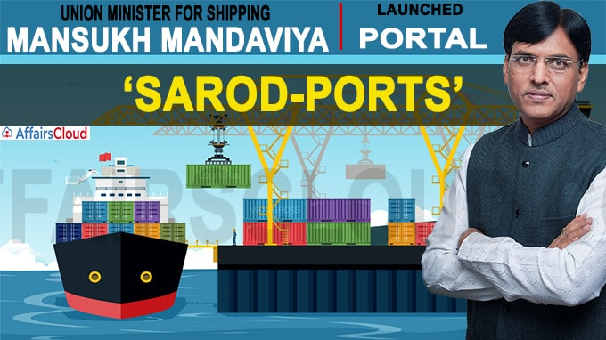 Union minister for Shipping Mansukh Mandaviya launched portal SAROD-Ports Virtually