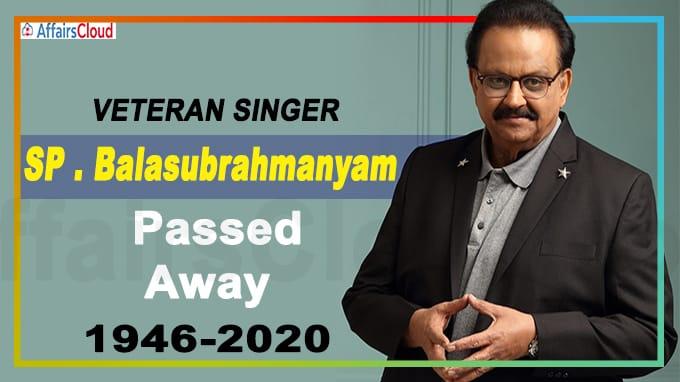 Veteran singer SP Balasubrahmanyam dies, aged 74