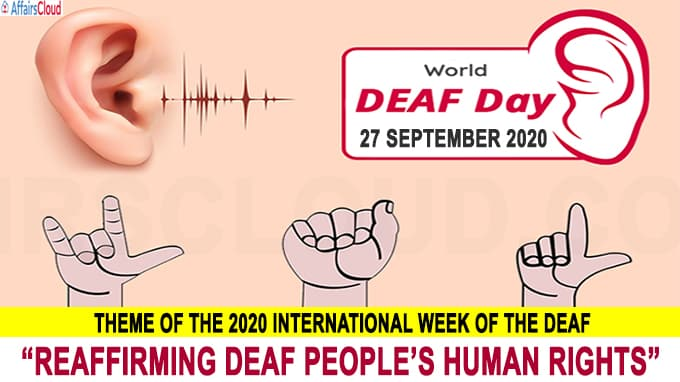 World Deaf Day - September 27 2020 new 1