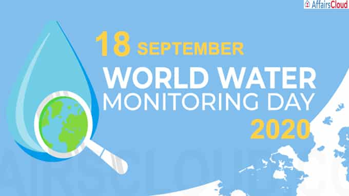 World water monitoring day - September 18 2020