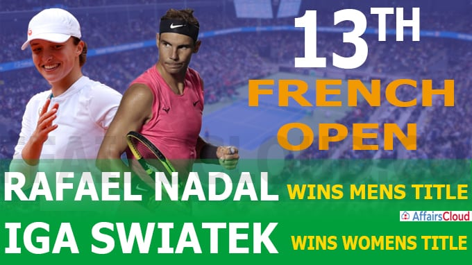 13th French Open held at Stade Roland Garros