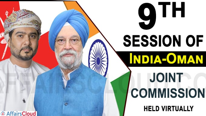 9th session of India-Oman Joint Commission held Virtually