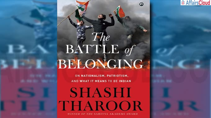 A book titled The Battle of Belonging by Shashi Tharoor to be out next month